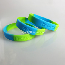 Segmen Wristbands silikon Debossed - 180mmx12mmx2mm